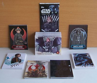 Topps Star Wars Series 1 Rogue One 90 card base set + 6 insert sets. 150 cards