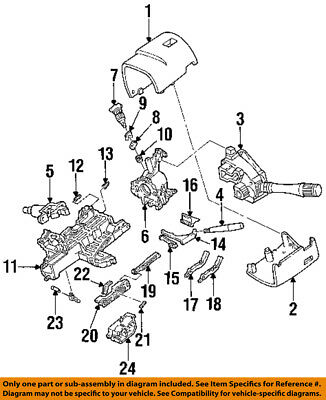 New Ford Lincoln Mercury Oem Steering Column Lock Lever Actuator