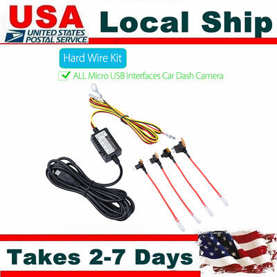 MICRO USB 12V to 5V Parking Mode Guard Hard Wire Kit For