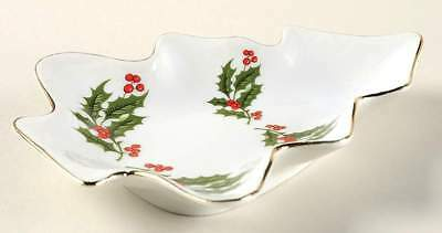 All The Trimmings CHRISTMAS HOLLY (PORCELAIN) Tree Shaped Dish 7160074