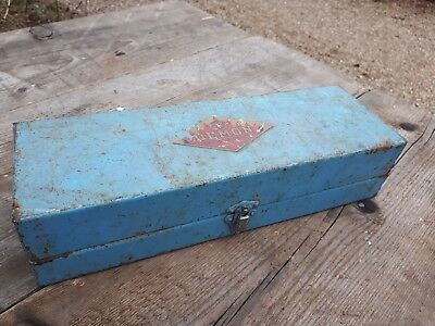 Vintage Suffolk Iron Foundry Metal Box 31cm x 10cm x 7.5cm