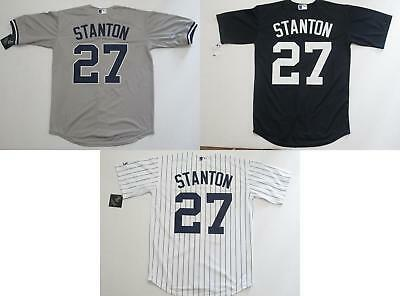 huge selection of 8b81a 6ac7e NWT GIANCARLO STANTON #27 New York Yankees Cool Base Collection Jersey  Home/Away