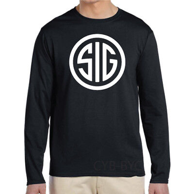Sig Sauer Long Sleeve New T-Shirt - Black & White Tee
