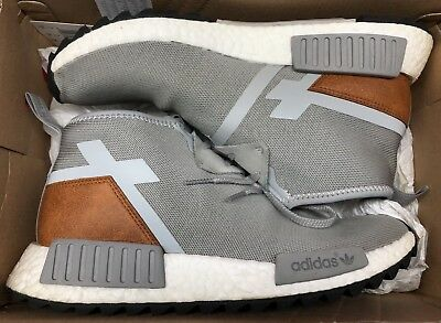 top fashion 37ef9 46770 adidas NMD C1 TR Grey White Brown Trail Ultra Boost S81835 Sz 8.5