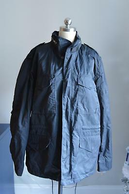 J.Crew $368 Mens Wallace & Barnes M-65 Jacket Sz Large Navy Blue Coat B2472 NWT
