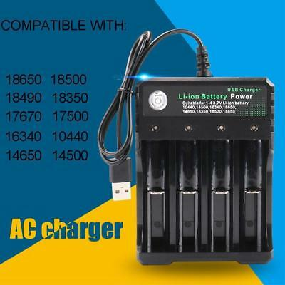 4 Slot Intelligent Battery Charger For 18650 26650 18350 Li-ion Ni-Mh AA AAA