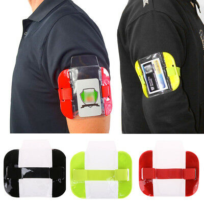 Colorful Tactical ID Arm Band Security ID Badge Card Holder Doorman Armband New