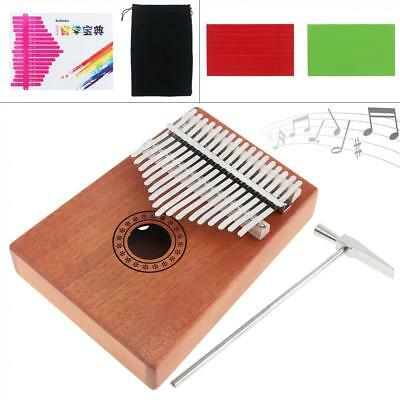 17 Key Kalimba Single Board Mahogany Thumb Piano Mbira Mini Keyboard Instrument