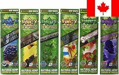 Juicy Jays Hemp Wraps - Variety Pack Bundle of Mixed Flavors (6 Packs of 2, f...