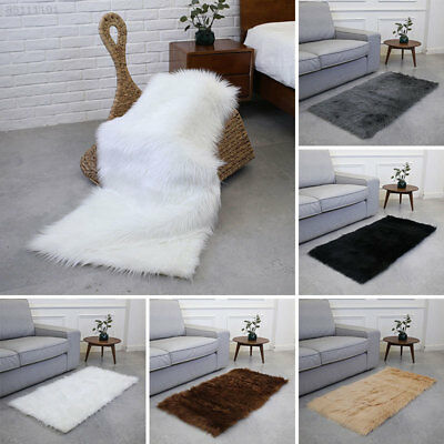 8E38 Fluffy Fluffy Rugs Rectangle Mat Bedroom Decoration Wool Carpet