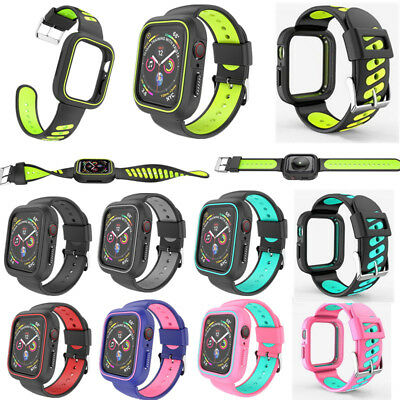 For Apple Watch Series 4 40/44mm Protective Shockproof Case / Band iWatch Strap
