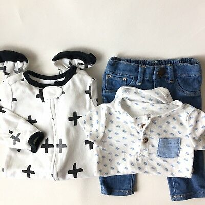 Lot 3 Baby Clothes, 1 Sleeper, 1 Pant, 1 Bodysuit  3 - 6 Months