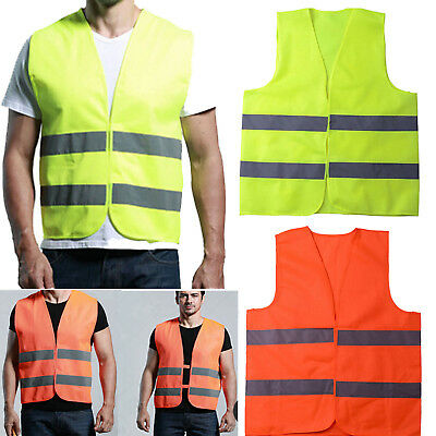 Practical Newly High Viz Visibility Hi Vis Safety Vest Waistcoat Jacket WORKWEAR
