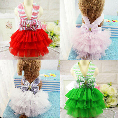 Small Pet Puppy Small Dog Lace Princess Tutu Dress Skirt Clothes Apparel Costume