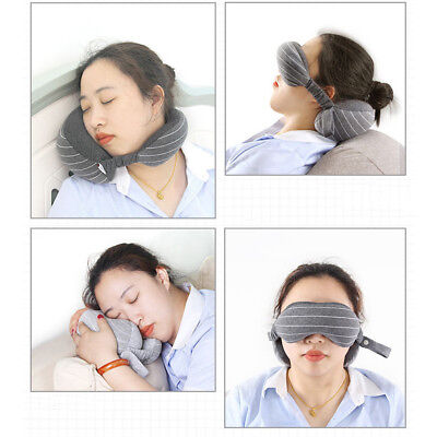 Travel Eye Pillow Soft Foam Particles Neck Port Flight Car Nap travel Pillow NTZ
