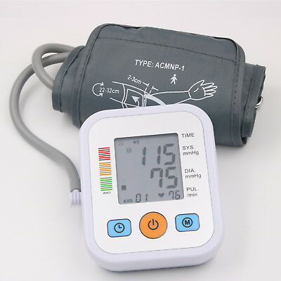 Automatic Blood Pressure Monitor Upper Arm Digital BP Machine With Large Cuff