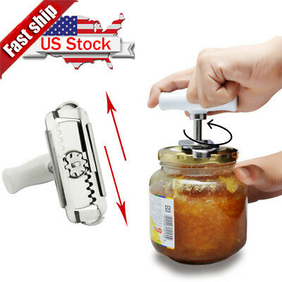 Adjustable Stainless Steel Non-slip Can Bottle Opener Jar Lid -Wrench Remover US