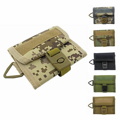 Military Outdoor Sports Wallet Purse Mesh Pocket Hook Loop Buckle Cloure 5Colors