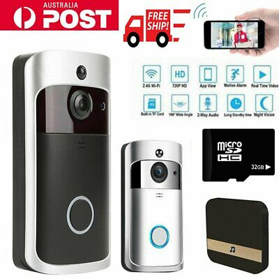 Smart Wireless WiFi DoorBell Phone Video Door Bell PIR Motion Detection Camera