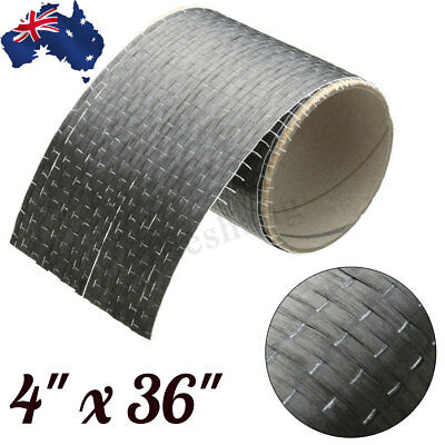 12K 200gsm Real Carbon Fiber Fabric Cloth Tape UNI-Directional Weave 4'' x 36''☆