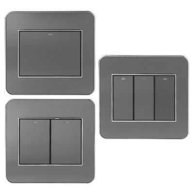 2-way acrylic crystal panel wall indicator random click button switch with LED