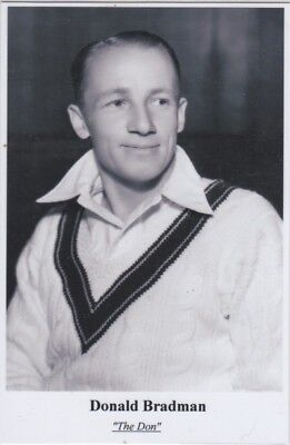 Cricket Postcard.  Don Bradman 2003