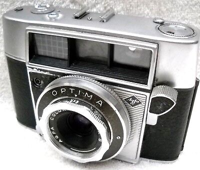**1950`s AGFA OPTIMA 35mm VIEWFINDER FILM CAMERA ORIGINAL CASE IN VG CONDITION*