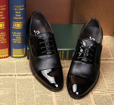 391aeab14b23 New men Lace Up Oxfords Mens Dress Tuxedo Formal Shoes Cap Toe Patent  Leather
