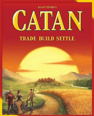 """Catan Board Game - 2015 Refresh - 5th Edition - Base Set - """"Settlers Of"""", Trade"""