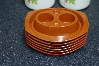 Vintage Pair Bessemer Double Egg Cup Retro 1970's x 2 egg Cups Kitchenalia