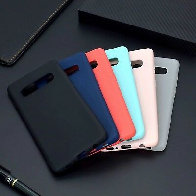 For Samsung Galaxy S10 Plus/A6S/A7 2018 Shockproof Slim Rubber Matte Case Cover