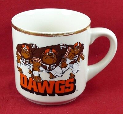 Vintage 1980s Cleveland Browns Dawgs Coffee Mug