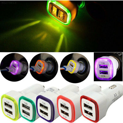 56D5 2.1A 1.0A 5W LED Dual USB 2 Ports Car Charger Charging For Smart Phone<