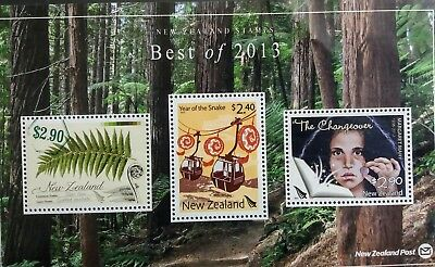 New Zealand Stamps, Best of 2013 - mint presentation sheet