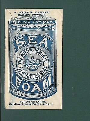 "New York, NY Cover, 1892.   #220A (left cap). ""Gantz Sea Foam Pwd"" Full Back."
