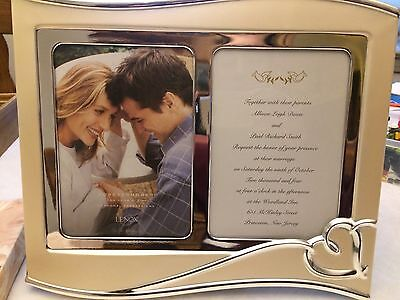 """Lenox Forevermore 5"""" x 7"""" Double Invitation Frame in box"""