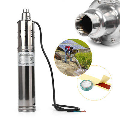24V 40/80/120M Deep Well Solar Submersible Powered Water Pump Stainless Steel