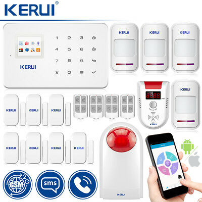 KERUI GSM Wireless 433mHz Home Security Alarm System Gas LPG Leakage Detector