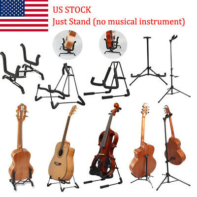 Violins /Guitar/Stand Foldable Single A-Shaped Musical Bass Stretching Holder US