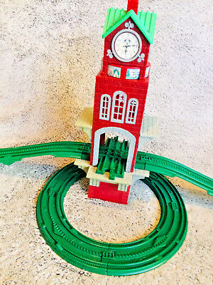 FISHER PRICE GEOTRAX High Chimes Tower Clock Green Train Track Set Musical  Works