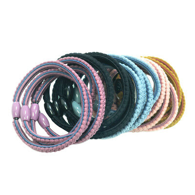 20X Girl Elastic Rubber Hair Ties Band Rope Ponytail Holder W / 6 mm