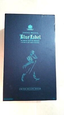 Johnnie Walker Blue Label blended Scotch Whiskey Empty Box Case 750 ml
