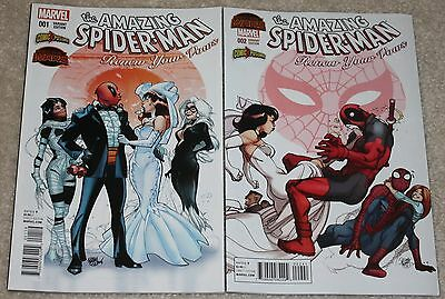 Amazing Spider-Man Renew Your Vows 1 & 2 Deadpool Ferry Variant Set 620 Hot Rare