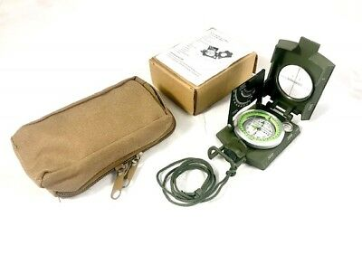 Compass, Military Reconnaissance Lensatic Compass Coyote Tan Pouch