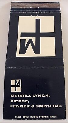 Matchbook Cover Merrill Lynch Pierce Fenner & Smith Inc. New York NY