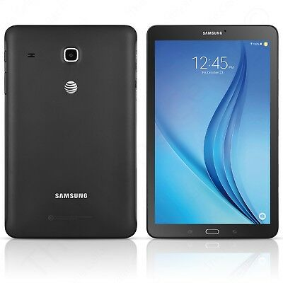 """Samsung - AT&T Galaxy Tab E Android Tablet 8"""" 16GB Wi-Fi + 4G LTE (Black) T377A"""