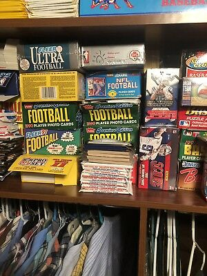 Huge Lot Of Unopened Football Packs Lot Of Unopened Football Cards Vintage Estat
