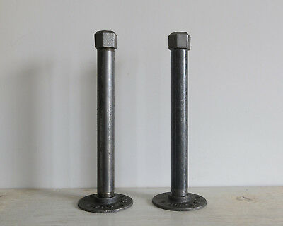 Industrial Style Pipe Shelf Brackets, 1 Pair, 3 sizes perfect for scaffold board