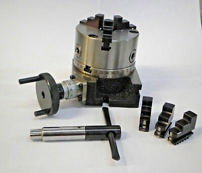 """4"""" Rotary Table W/ 3 Jaw Chuck ***new***"""