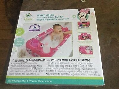 Disney Minnie Mouse Baby Inflatable Bathtub Kid Toddler Bath Tub Portable Pool